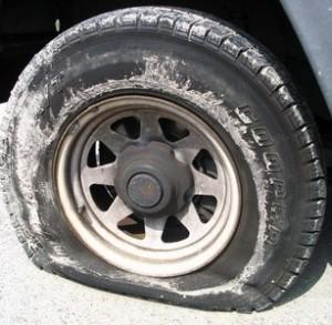 Crevaison d'un pneu