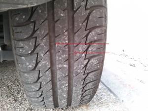 Témoin d'usure des pneus auto